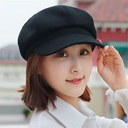076d9f8413f Amazon.com  Women Pure Literary Female Newsboy Hat Lady Winter ...