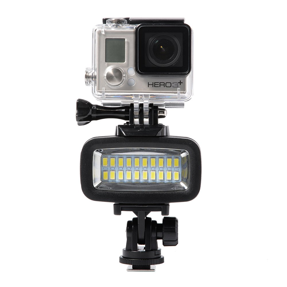 XCSOURCE/® Underwater 40M impermeable LED de buceo de v/ídeo de luz 20 LED 700LM Para GoPro Hero 3//4 deporte c/ámaras DSLR LD729