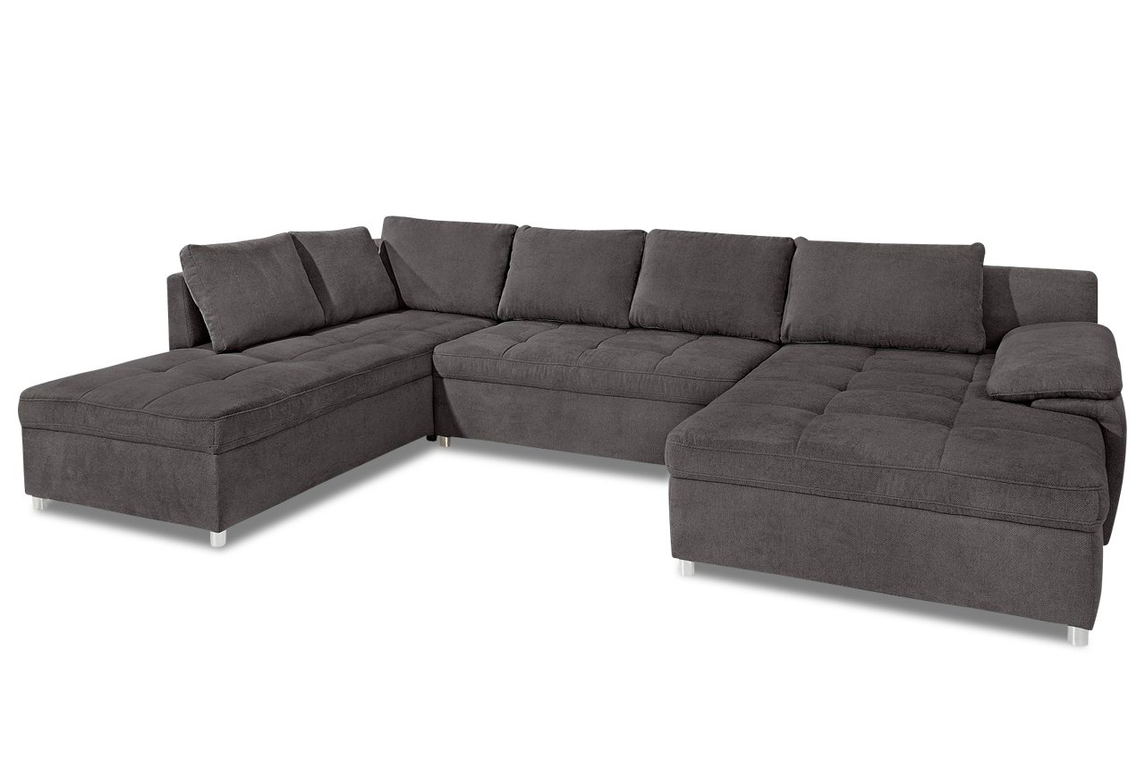 Sofa Wohnlandschaft Labene Anthrazit Webstoff Fango Gunstig Kaufen