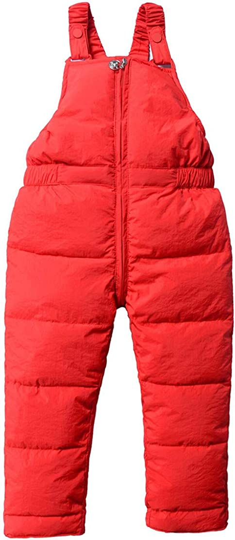 Gaga city Boys Girls Padded Trousers Warm Lined Dungarees Snow Pants Winter Overalls Toddler Kids Ski Bib Pants