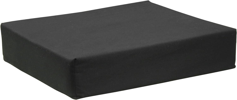 Aidapt Cojín para Silla de Ruedas, Negro (Black), 410 x 460 x 100 mm, 0,72 kg