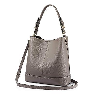 5d4542816b Amazon.com  bucket bag women handbags shoulder bags female leather totes  ladies messenger large top-handle bags
