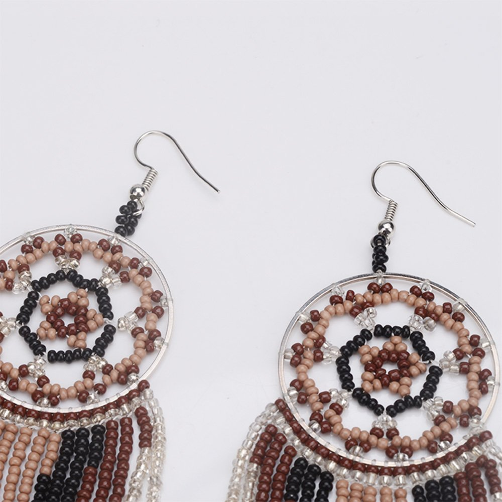 BALA Dream Catcher Bead Earrings Dangle for WomenJapan Seed Bead Girls Hypoallergenic Beaded Native American