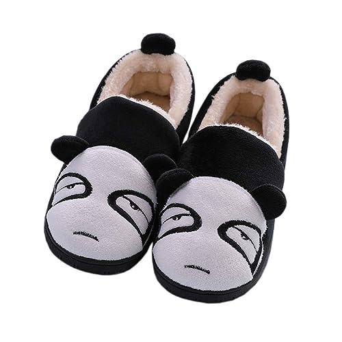 e1d0b99cb16f Boys Girls Plush Cute Home Shoes Warm Cartoon Slippers Kids Fur Lined Indoor  House Slipper Women
