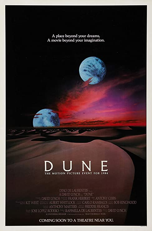 Amazon.com : DUNE MOVIE POSTER 1 Sided RARE ORIGINAL ROLLED NEAR MINT 27x41  DAVID LYNCH : Everything Else