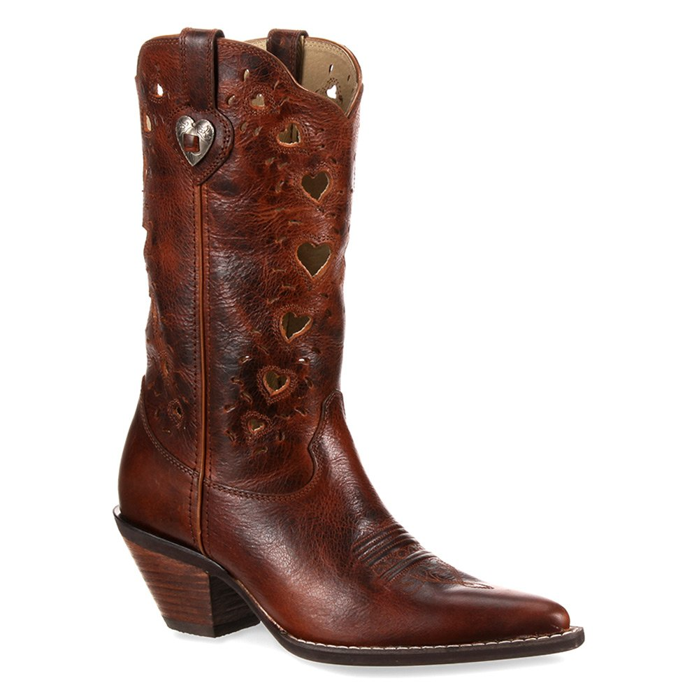 Durango Women's Heartfelt Western Leather Boots B00P1Q839S 7 B(M) US|Saddle Brown
