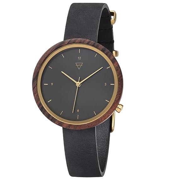 Kerbholz Reloj Digital para Mujer de Cuarzo con Correa en Cuero 4251240402475: Amazon.es: Relojes
