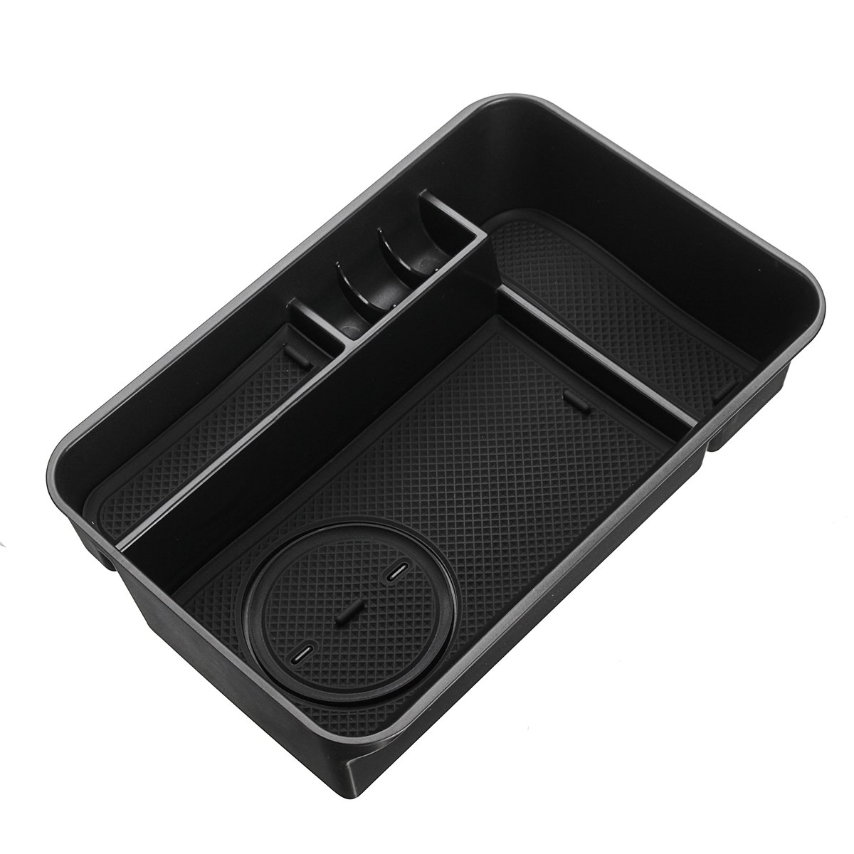 Viviance Abs Car Armrest Storage Box Center Console Tray For Nissan Patrol Y62 2010-2018