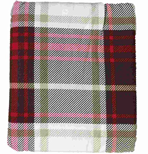 HD Heavyweight Brown & Red Plaid Flannel Sheet Set Queen Bed