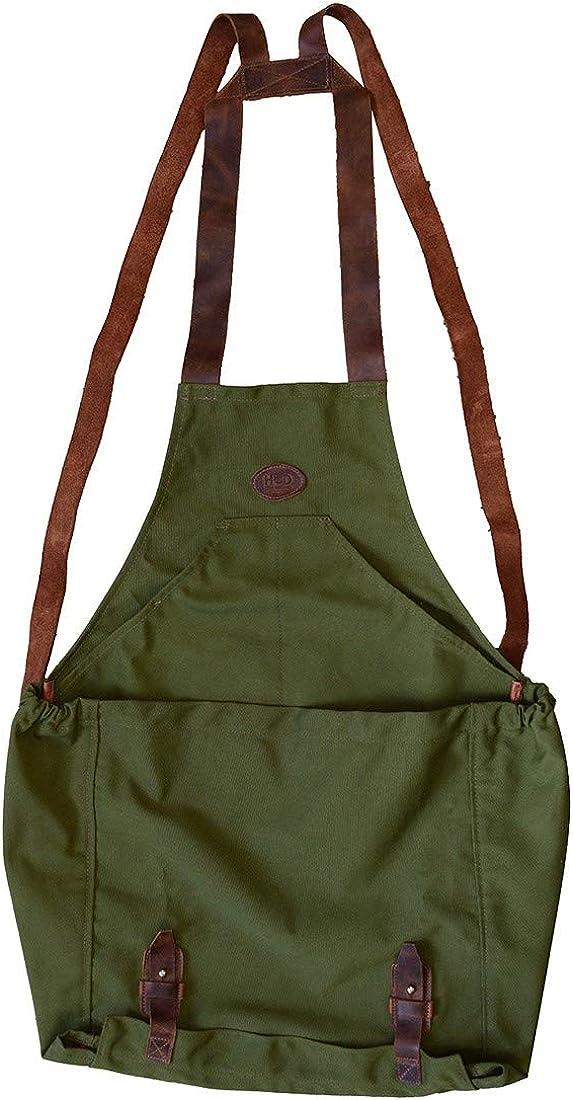 Hide & Drink, Water Resistant Canvas Kangaroo Fruit Picking Bag, Harvesting Pouch, Gardening & Farming Accessories, Handmade :: Olive