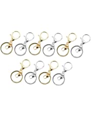 Baoblaze 10pcs Lobster Clasp Trigger Clips Snap Hook Bag Key Ring Charms Findings