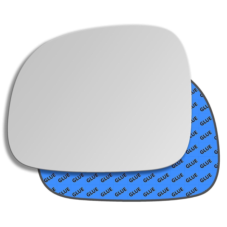 Hightecpl 342LS Left Passenger Side Convex Door Wing Mirror Glass Channel Autoparts Limited
