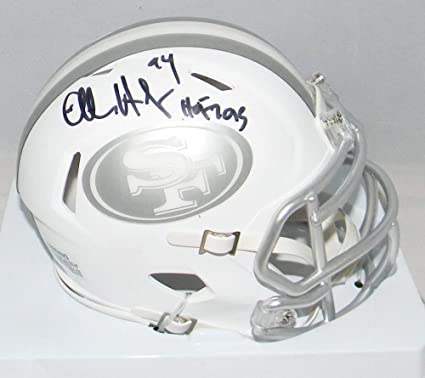 ce1e9b7db Charles Haley Autographed Signed San Francisco 49ers Ice Mini Helmet JSA  Hall of Fame 2015