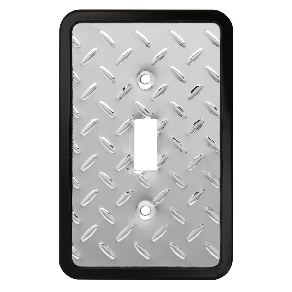 Franklin Brass 135858 Diamond Plate Single Toggle Switch Wall Plate/Switch Plate/Cover