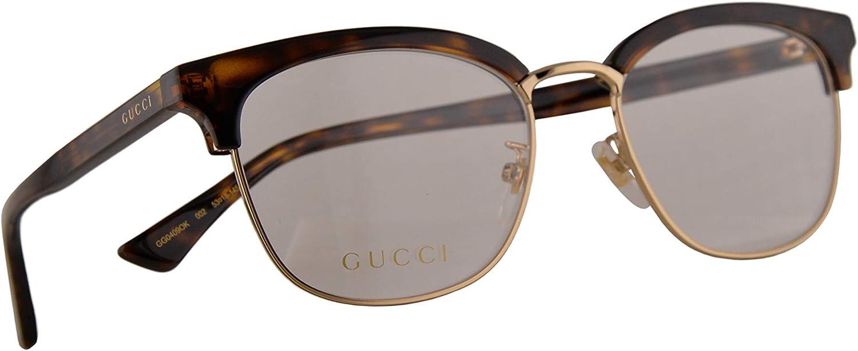 Gucci GG0409OK Gafas 53-18-145 Havana Con Lentes De Muestra 002 GG 0409OK: Amazon.es: Ropa y accesorios