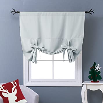 Amazon.com: NICETOWN Thermal Insulated Blackout Curtain - Tie Up ...