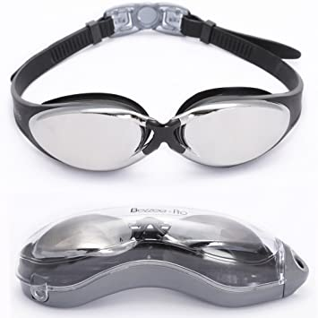 bezzeepro lunettes de natation expert verre miroirs antibue with lunette de natation  decathlon 72d34b86ad05