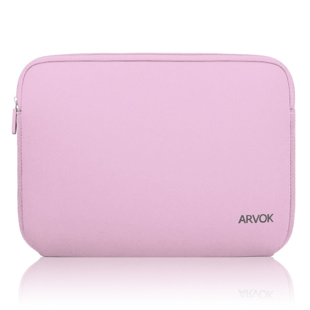 Arvok 13-14 Inch Laptop Sleeve Multi-Color & Size Choices Case/Water-Resistant Neoprene Notebook Computer Pocket Tablet Carrying Bag Cover, Pink