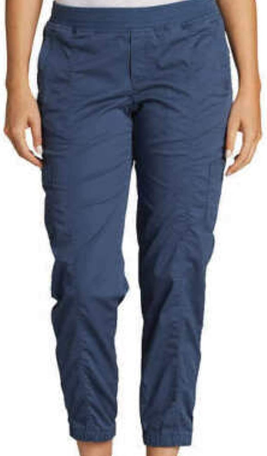Eddie Bauer Womens Laid Back Twill Excellent Jogger Over item handling Dusty Pants 4 Indigo