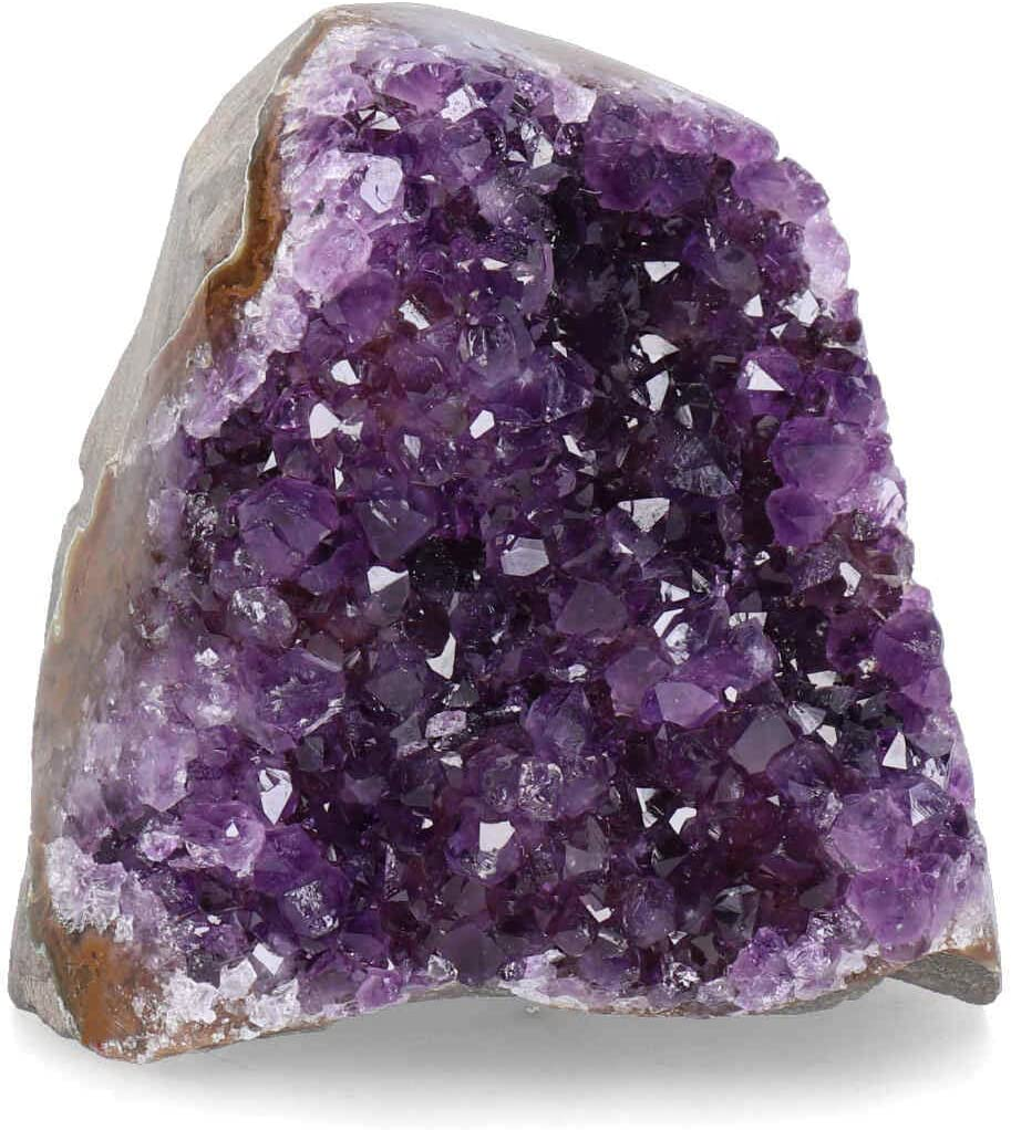 Deep Purple Project Large Amethyst Clusters 1 Lb to 1.7 Lb Quartz Crystal Geode Plus Premium Gift Box Spiritual Healing Stone
