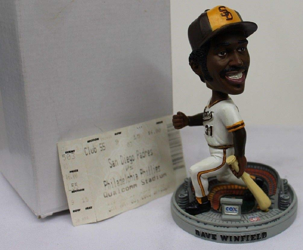 2003 Dave Winfield Bobblehead SGA w/Game Ticket Pro Specialties Padres NIB