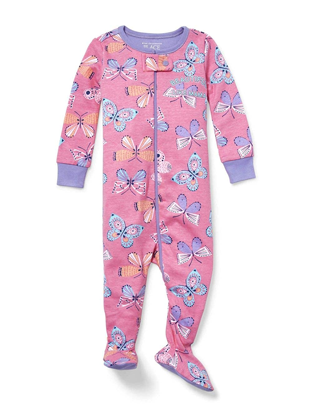 Place The Childrens Girls Beautiful Like Mama Butterfly Pajama Sleeper Size 2T Pink