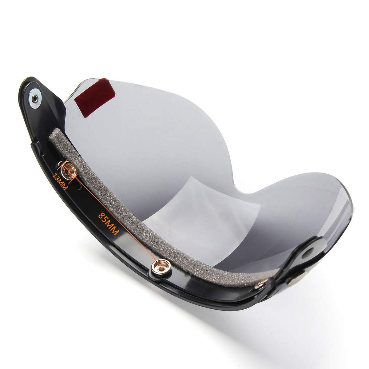 Verre Rabattable TONGXU Visi/ère Universelle pour Casque de Moto Demi-Ouverture