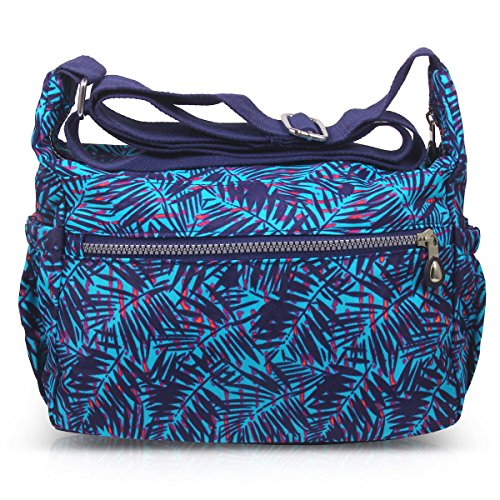 ABLE Splash Bags Water Crossbody Shoulder Messenger Women Bamboo blue 4 Leaves Anti ZrqU4Z