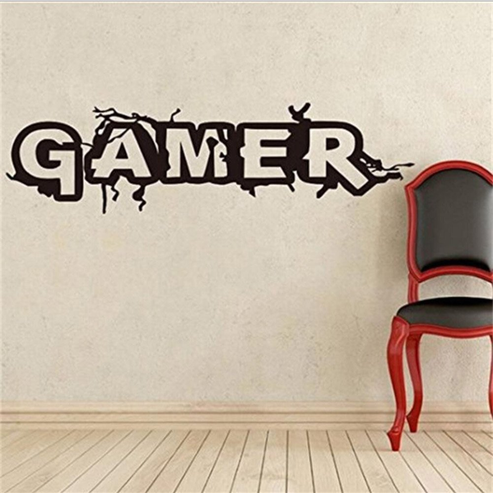Auxsoul Gaming Quote Extreme Gamer Door/Wall art sticker/Decal Boys/Man Cave by Auxsoul (Image #4)
