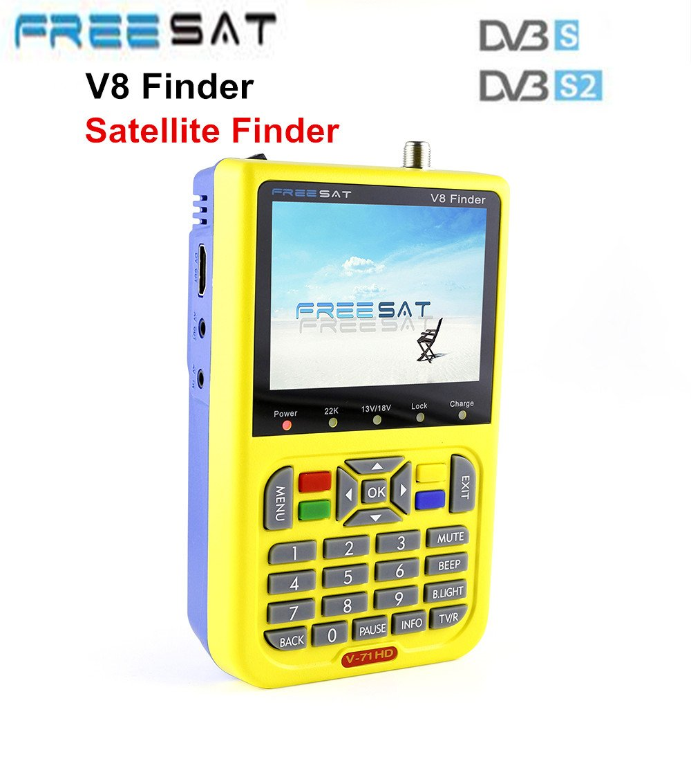 Freesat v8ファインダーデジタル衛星ファインダーDVB - S / DVB - s2 1080p HD MPEG - 2 / mpeg4 3.5インチLCD衛星テレビ受信機 B078WSX6BN
