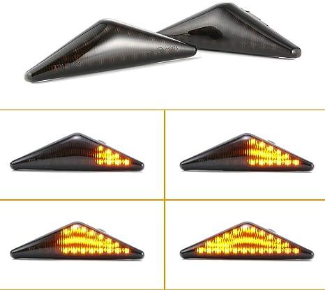 2 /× Indicatori di luce di segnalazione a LED laterali a scorrimento che possono essere utilizzati per Ford Focus MK1 White