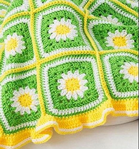 Daisy Garden Blanket Crochet Kit by PantryPlus