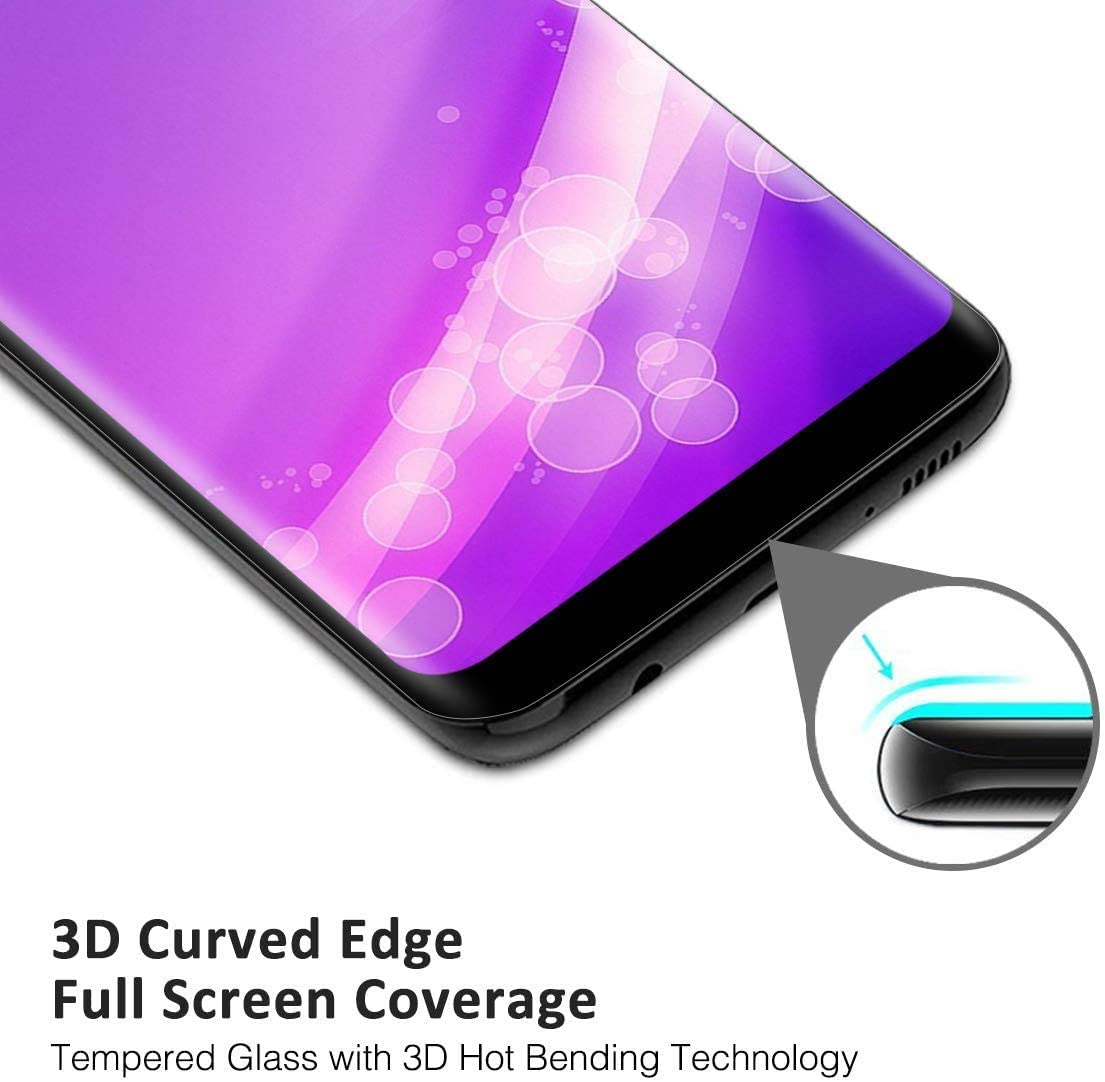 NBKASE Screen Protector for Galaxy S9 Ultra HD Clarity Tempered Glass Protector for Samsung Galaxy S9 Easy Bubble Free Installation 4 Pack