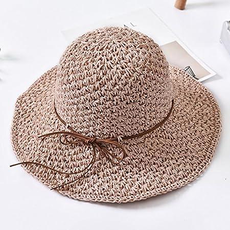 834b3da698a YXLMZ Ladies Women Hats Outdoor Visor Sunscreen Hats And Stylish Lounge W  Hat Fisherman Hat Straw Hat Summer Mesh Raw Powder S (54-56Cm)   Amazon.co.uk  ...