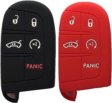 Funda clave el rojo de silicona protección llaves del coche cover control remoto