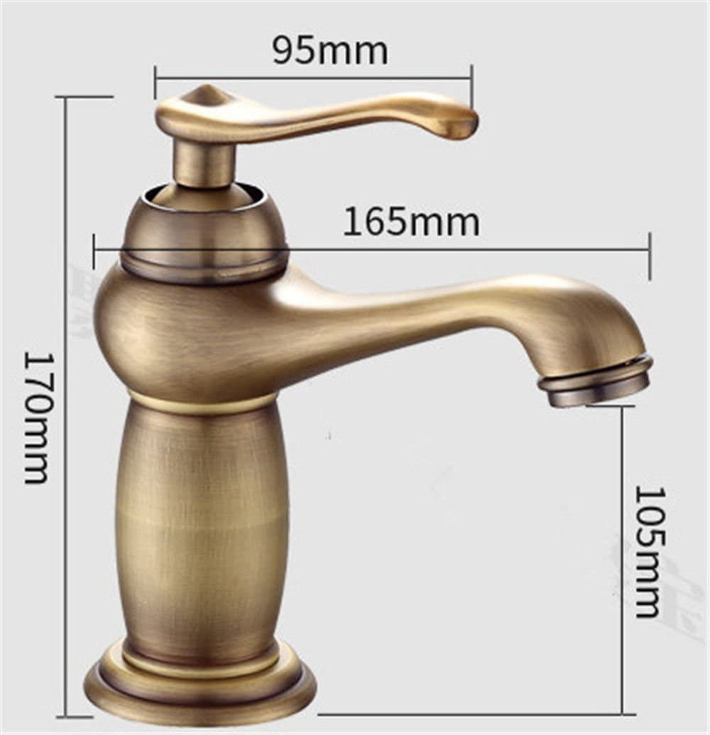 Widespread Kitchen Sink Faucet Bathroom Sink Vessel Solid Brass Kitchen Sink Basin Mixer Tap Antique Hot and Cold