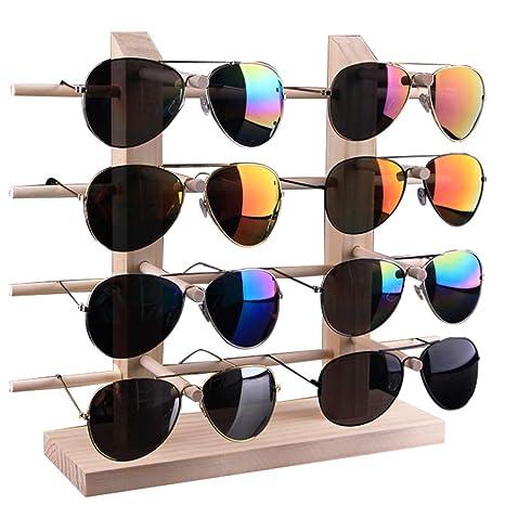 Whchiy - Soporte de Madera para Gafas de Sol, Doble Fila ...