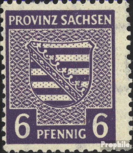 Soviet Zone (Allied.cast.) 76X B Tested 1946 Provincial Coat of Arms (Stamps for ()