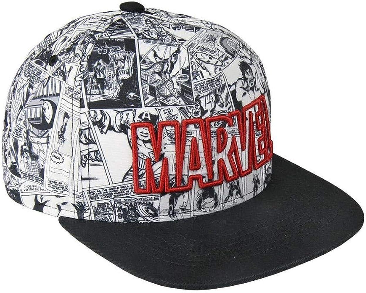 Marvel Comics Classic Logo Snapback Cap Gorra para Hombre, Mujer y ...