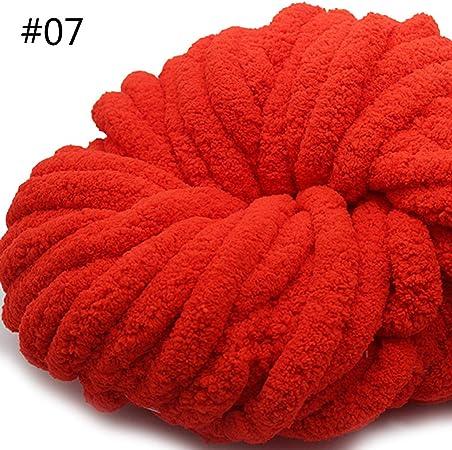 Manyo - Ovillo de lana para tejer, 250 g, suave algodón, lana, pompón, lana, multicolor # 07 Grand Rouge: Amazon.es: Hogar