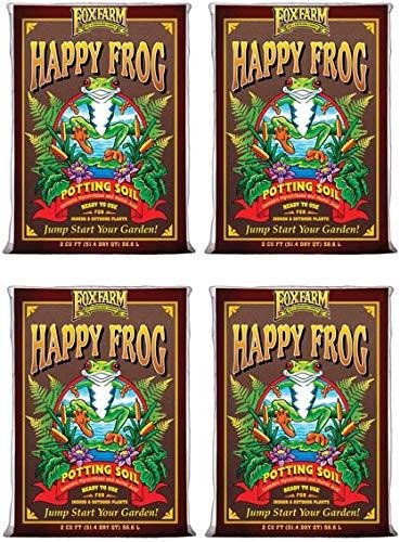 (4) FOXFARM FX14047 pH Adjusted Happy Frog Organic Potting Soil