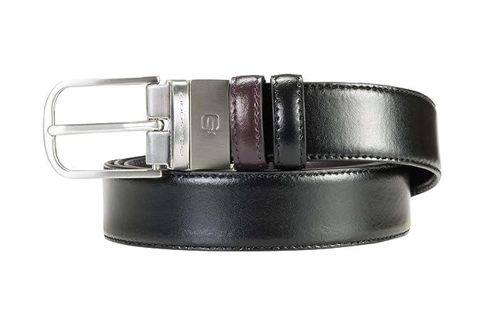 trova fattura repliche fashion design Piquadro- Cintura uomo con fibbia ad ardiglione- Colore ...