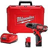 Parafusadeira e Furadeira Impacto Milwaukee 12V 3/8 Polegadas Vermelho