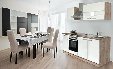 respekta - Blocco cucina 210 cm, in rovere sonoma grezzo, con piano ...