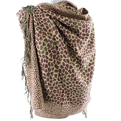 Silver Fever Pashmina Leopard Animal Stylish