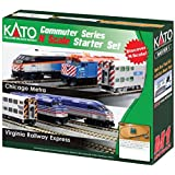 Kato USA Model Train Products N MP36PH and Gallery Bi-Level Commuter Series Virginia Railway Express UNITRACK Starter Set
