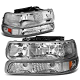5 3 4 headlight grille - DNA Motoring HL-OH-CS99-4P-CH-AB Headlight Assembly, Driver and Passenger Side