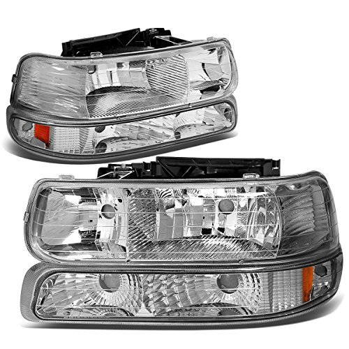 DNA Motoring HL-OH-CS99-4P-CH-AB Headlight Assembly, Driver and Passenger Side