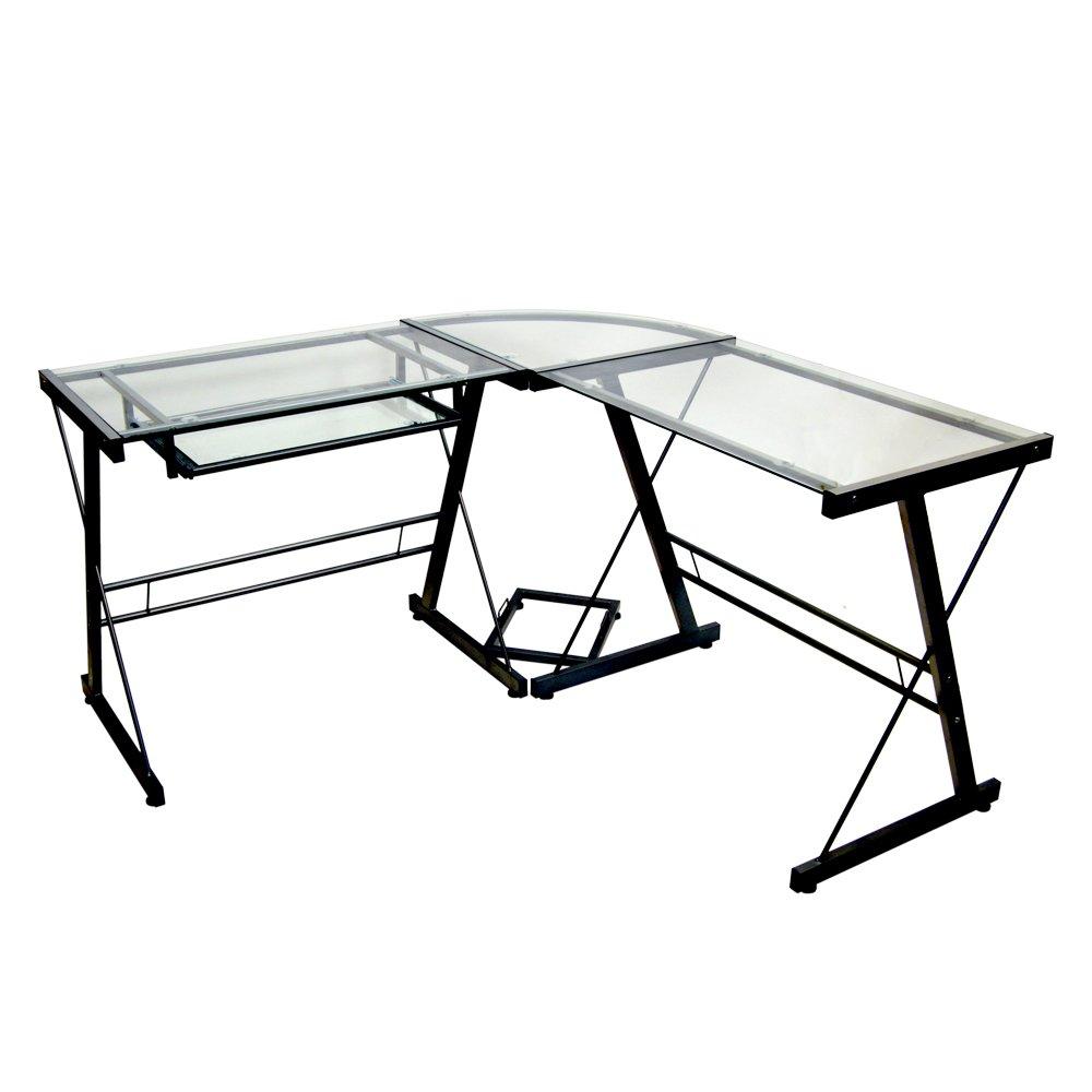 Walker Edison D51Z29 Soreno L-Shape Desk, 29'' x 20'' x 51'', Black by Walker Edison Furniture Company