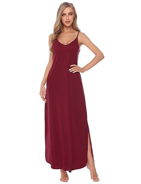 0617ce3ffa Aibrou Vestidos Mujer Algodón Verano